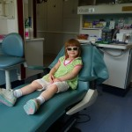 Anna chillin' in the dentist chair